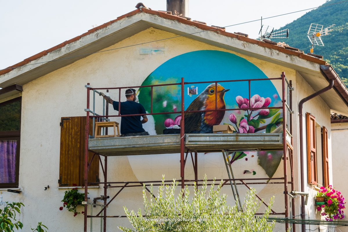 I murales di Cacciano