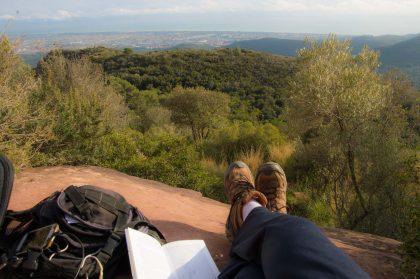 Godendo dei panorami da Gavà a Begues