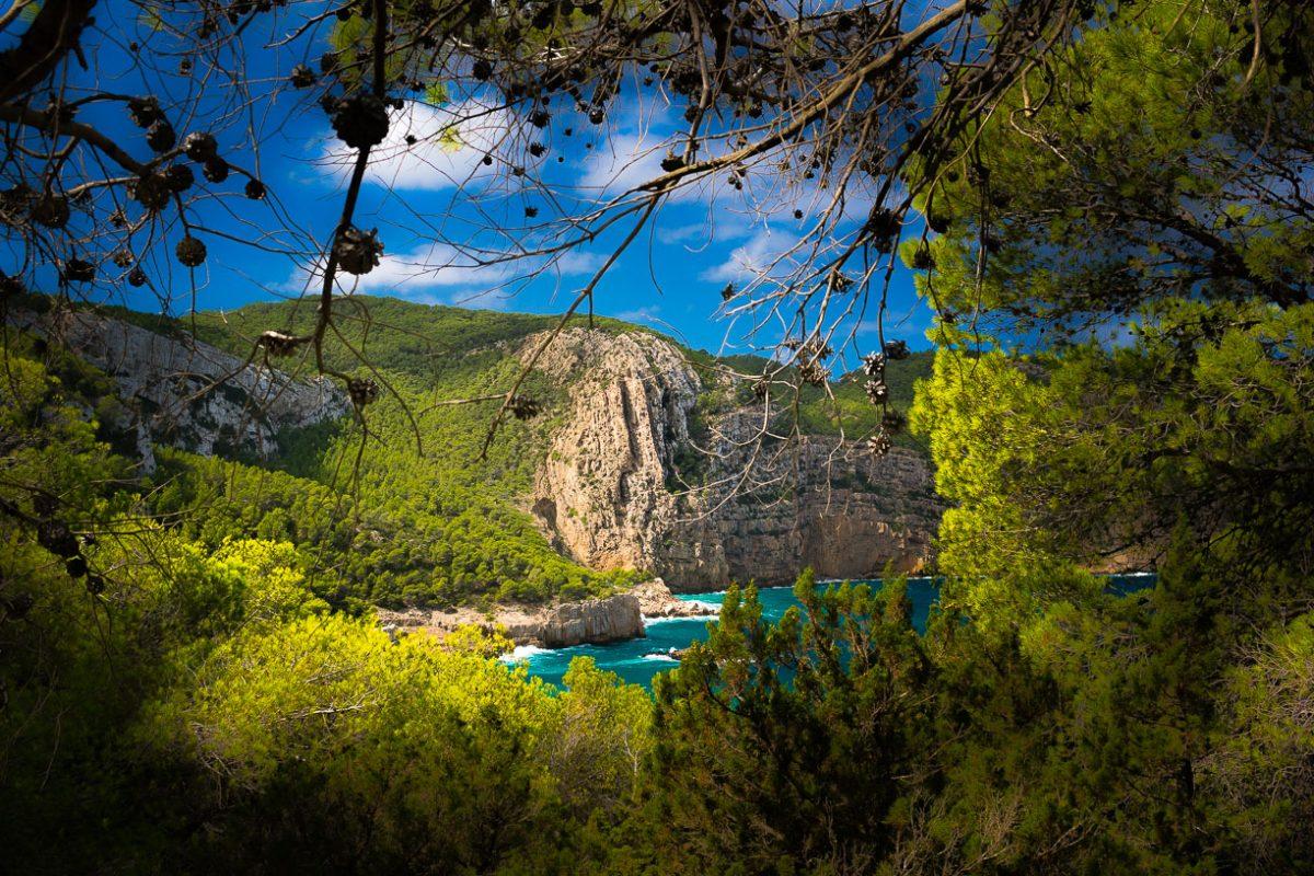paesaggio della cala d'Albarca